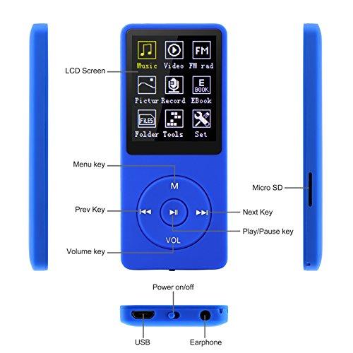 Dynamisch Bluetooth Mp4 Player 1.8in Bildschirm Ultra-dünne Lossless Hifi Musik Player Touch-taste Mit Fm 16g Unterstützung Bis Zu 128 Gb Aufnahme