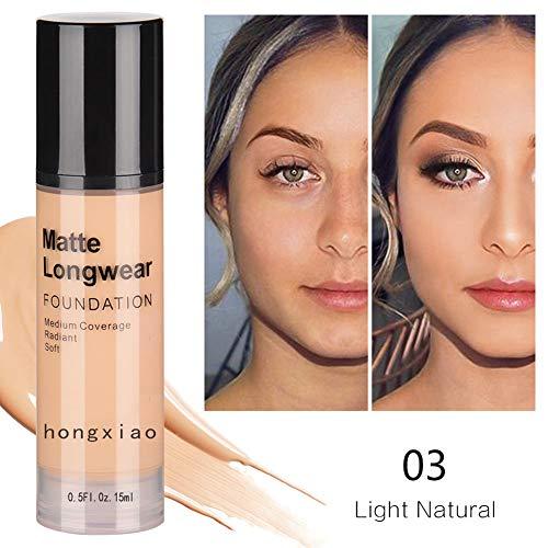 Weixinbuy Matte Liquid Foundation Feuchtigkeitsspendende Haut Poren Abdeckung Sommersprossen Narben Auch Hautton Make-up Foundation