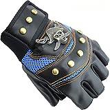 Fahrradhandschuh Gewichtheben Training Gym Radfahren Handschuhe Sommer Crescent Fahrradhandschuh (Color : Blau, Size : Kostenlos)