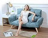QiXian Klappsofa, Doppelbenutzung, Schlafzimmer, Einzel-Doppel-Sofa, Blauer See, 128 * 33 * 61 cm
