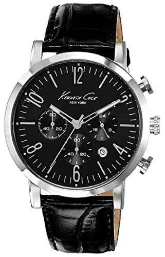 Wristwatch KENNETH COLE WATCH - SPORT GENT S/S CHRONO CROCODILE TEXTURE BLACK STRAP DATE 3 ATM 44mm 10020826