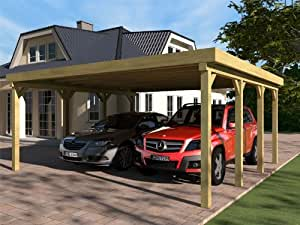 carport flachdach silverstone iii 600x600 cm bausatz flachdachcarport auto. Black Bedroom Furniture Sets. Home Design Ideas