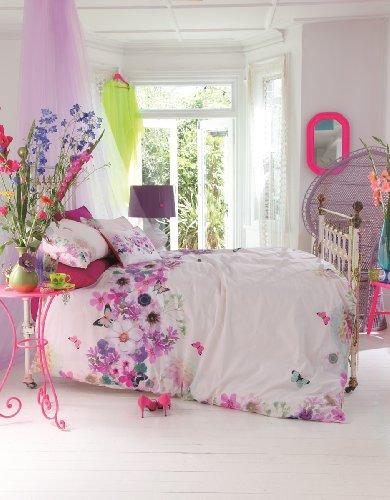 Accessorize Winter Bloom - Set di lenzuola matrimoniali 200 x 200 cm, con 2 federe da 50 x 75 cm