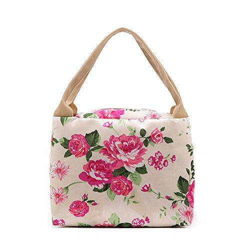 GSPStyle Damen Tragetasche Handtasche Nylon Henkeltaschen Kindertasche Herz Pink Dunkelrosa