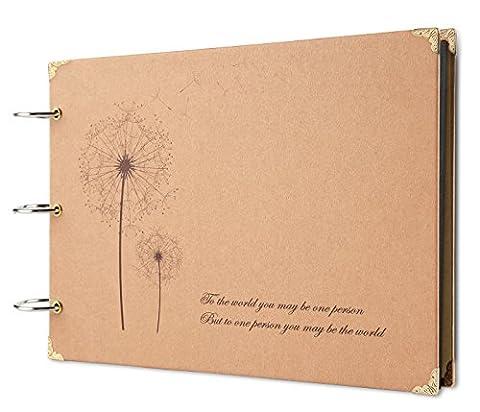 FaCraft Scrapbook Love Scrapbook Album mit Scrapbook Aufbewahrungsbox Jahrestag Vintage Scrapbook Aufnahme Geschenke, Hochzeit Gästebuch, Travel Book Löwenzahn