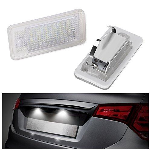 GHB 2 pcs Led Kennzeichenbeleuchtung LED Kennzeichen Leuchten für Audi A8/S8 A6/C6/S6 A4/S4/RS4 A3/S3 Q7
