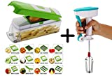 #9: Rock Vegetable Cutter With Chopper ,12 Blades With Peeler
