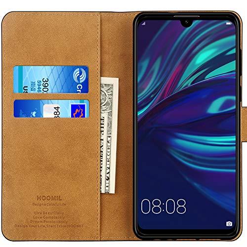 HOOMIL Cuir Premium Coque pour Huawei P Smart 2019, Portefeuille Etui Housse pour Huawei P Smart 2019 (Noir)