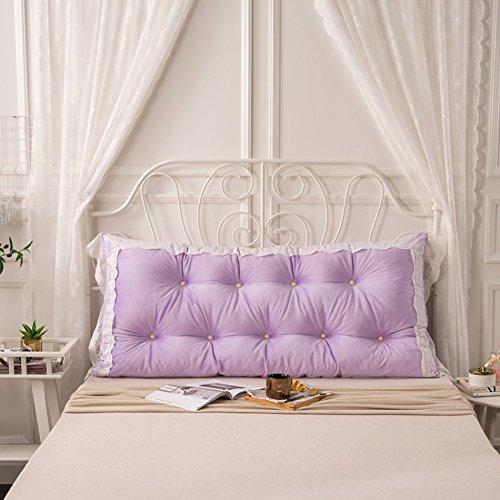 C&L Coussin de lit, grand dossier Grand coussin oreiller de lit Canapé Protéger le cou Protéger la taille oreiller 120 * 75cm (Couleur : #3)