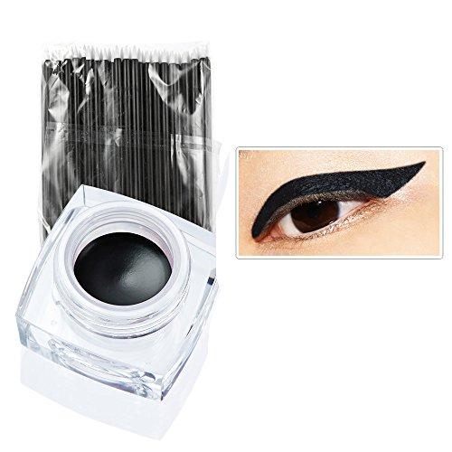 Ularma 12 color de delineador de ojos multicolor combinación de crema + 50PCS cepillo de delineador de ojos (D)