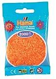 Hama Perlen 501-38 - Mini-Perlen 2000 Stück neon-orange