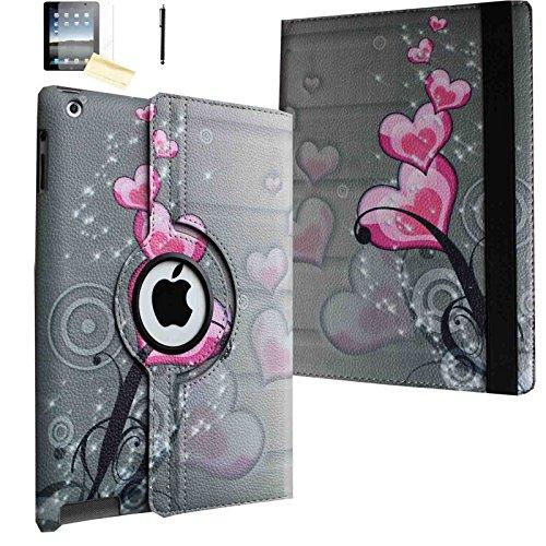JYtrend JYiPadMinicase15 Tablet-Schutzhülle, apple-ipad-mini apple-ipad-mini-3 apple-ipad-mini-2, Pink Heart Flower
