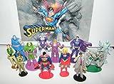 #5: Superman Deluxe Mini Figure Set Of 13 With Supergirl, Doomsday, Jimmy Olsen, Clark Kent, Darkseid, Brainiac, Lois Lane, Lex Luthor And More!