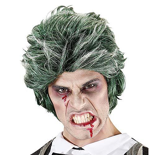 WIDMANN 06741 - peluca verde zombi hombres, tamaño