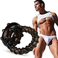 SALLYDREAM Couple Lover Sexy Jugar Juegos Dual Ring Men Male Soft Silicone Time Delay Ring