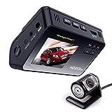 Dash Cam Armaturenbrett Dual Kamera Recorder mit HD 1080P 720P VGA, 170 ° Weitwinkelobjektiv, 2