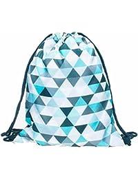 Sannysis bolsos de mujer con cordón, mochila infantil Impresión 3d mochila