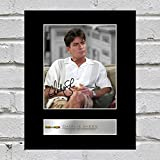 Charlie Sheen Signiert Foto Display Two and a Half Men
