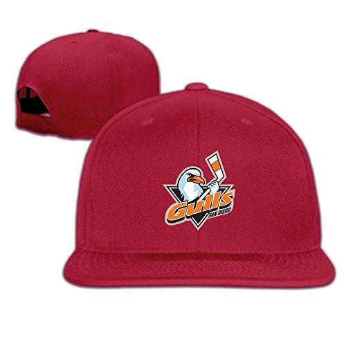 hittings-adult-san-diego-gulls-fantastic-snapback-adjustable-hats-red