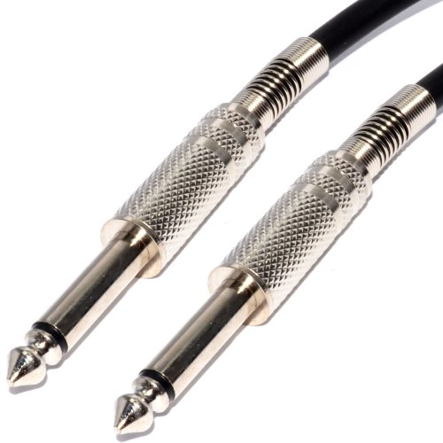 Pulse 6,35 mm Verluste Lärm Gitarren Kabel Vernickelt Anschlüsse Schwarz Anschlusskabel 5 m