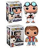 FunKo Funko Pop Vinyl Figure Back To The Future - Marty Mcfly & Doc Emmet Brown