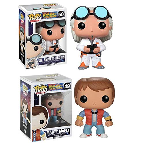 (FunKo Funko Pop Vinyl Figure Back To The Future - Marty Mcfly & Doc Emmet Brown)