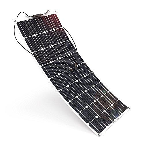 El panel solar flexible 150w monocristalino 12 voltios de WccSolar gracias a 5 buses cada célula para producir la máxima eficiencia solares ideal para utilizar en instalaciones solares de 12 voltios en autocaravanas, carvanas, furgonetas o en embarca...