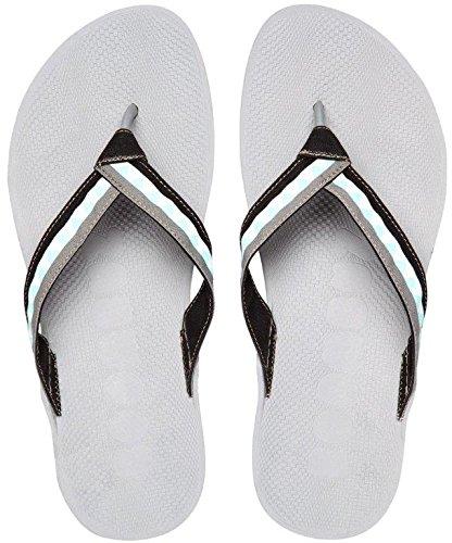 Boombuz 100% nature, 100% VEGAN, TAIGA HALF DRESSED Flip Sandals Flops Zehentrenner Zehenspreitzer Dark Grey / Grey-Black