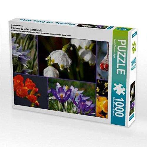 Ein Motiv aus Dem Kalender Florales zu jeder Jahreszeit 1000 Teile Puzzle Quer