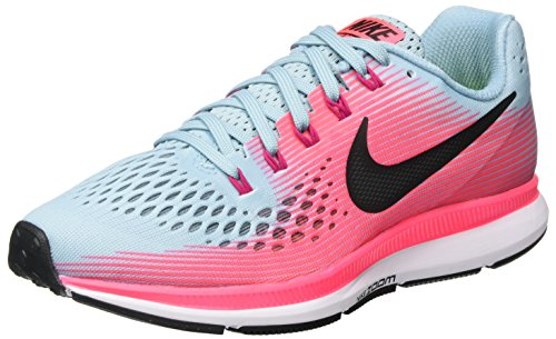 brand new ea519 1d039 Nike Women's WMNS Air Zoom Pegasus 34, MICA Blue/White-Racer Pink-