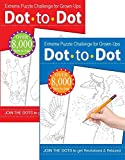Dot To Dot Extreme Puzzle Drawing Book Challenge for Grown-Ups Adults Assorted Colour