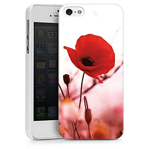 Apple iPhone X Silikon Hülle Case Schutzhülle Mohnblume Blüten Klatschmohn Hard Case weiß