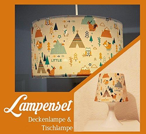 "Lampenset ""Tipi"" Deckenlampe & Tischlampe"