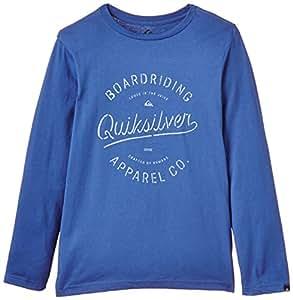 Quiksilver Clastyrhinoch T-Shirt manches longues Garçon Federal Blue FR : 12 ans (Taille Fabricant : M/12)