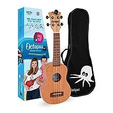 Octopus soprano ukulele in natural Full