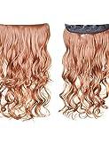 Attachez en synthèse les extensions cheveux bouclés avec clip 5–6couleurs disponibles golden brown