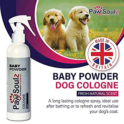 Paw Soulz Dog Perfume Spray - Cologne Baby Powder Scent - Contains Aloe - Replenish Skin & Coat - Hypoallergenic - Natural Conditioner for Dogs & Puppies from Paw Soulz
