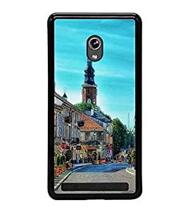 Fuson Premium 2D Back Case Cover Lovely place With blue Background Degined For Asus Zenfone 5::Asus Zenfone 5 A500CG