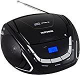 Telefunken RC1005M tragbarer MP3-CD-Player (UKW-Radio, Aux-In, Batterie/Netzbetrieb)