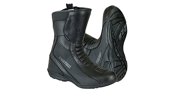 7 EU 41 Black Profirst Global Adventure Motorbike Motorcycle Racing Armour Sports Boot Waterproof Touring Shoes for Mens