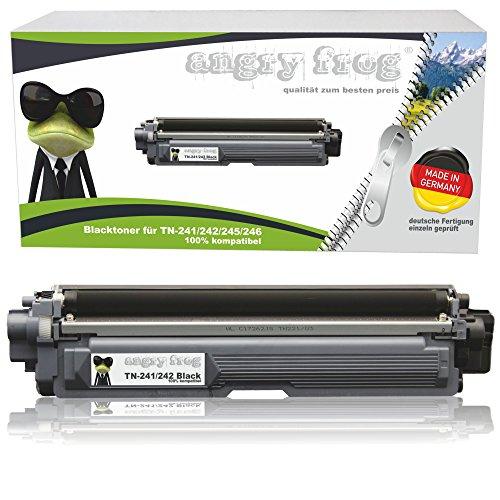 AngryFrog® Black XL Toner passend für Brother TN-242 TN-246 für Brother HL-3142 CW HL-3152 HL-3172 DCP-9017 CDW DCP-9022 MFC-9142 CDN MFC-9332 MFC-9342 Schwarz je 2.500 Seiten, Color je 2.200 Seiten