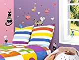 """I-love-Wandtattoo WAS-10244 Wall stickers Kids """"Colored cats"""" Sticker Wall Decal Boy Girl"""