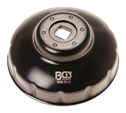 Bgs ölfilterkappe, 76 mm x 12 pans, 1039–76–12