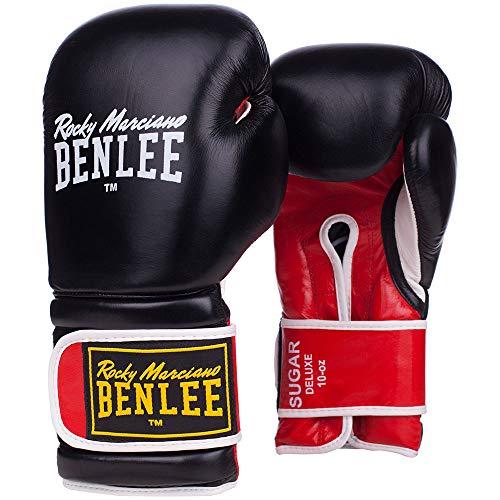 BENLEE Rocky Marciano Benlee Boxhandschuhe Sugar Deluxe, Farbe:Black/Red, Größe:12 oz