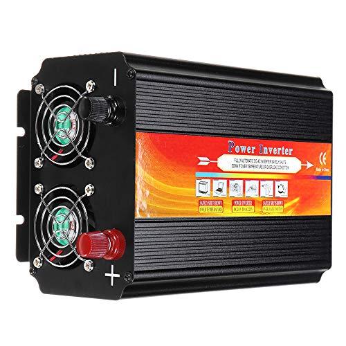 8000W Auto Wechselrichter 12 / 24V bis 110 / 220V Sinus-Wandler mit Flachsicherungen Paar Kabel mit Klemme Sicherungsstück (12V-110V)
