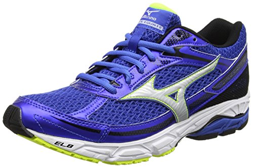 Mizuno Wave Equate, Chaussures de Running Entrainement Homme Bleu (Strong Blue/silver/safety Yellow)