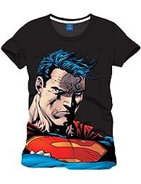 Superman - T-shirt - Manches Courtes - Homme Noir Noir