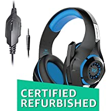 (CERTIFIED REFURBISHED) Kotion Each GS410 Headphones with Mic and for PS4, Xbox One, Laptop, PC, iPhone and Android Phones(Blue)