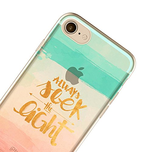 Coque pour iPhone 6 / 6S (4,7 pouces) Shell - Sunroyal Ultra Light Soft Souple TPU Ultra Slim Silicone Coquille Case Transparent Clair Gel Back Cover 3D Ink Waves Modèle Créatif Coloré Beau conception Modèle-31