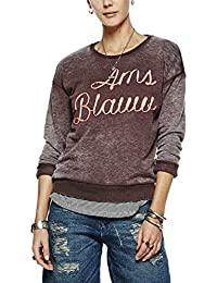 Scotch & Soda Maison Basic Burn Out Theme In Soft Quality, Sweat-Shirt Femme